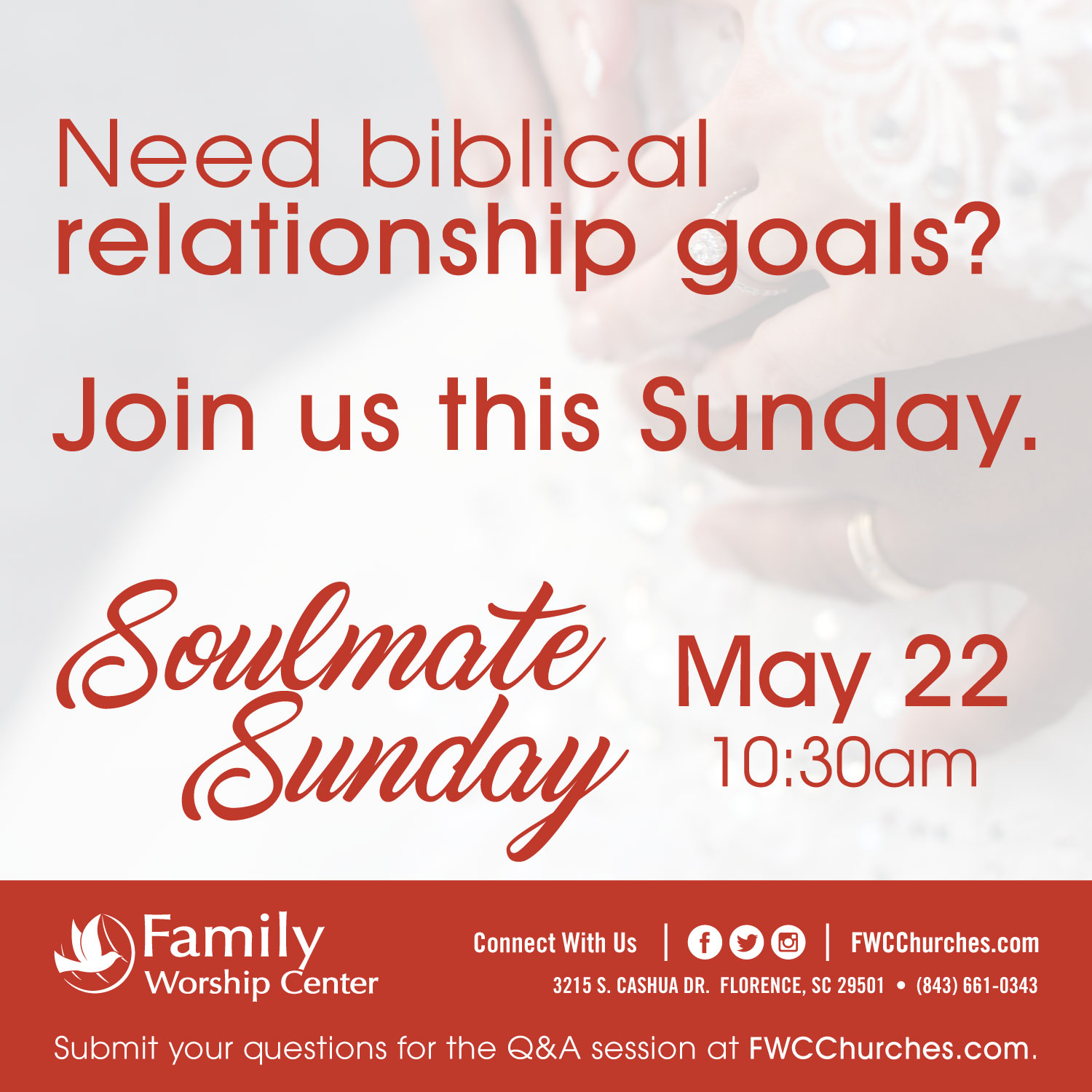 Soulmate Sunday 2016 - Social Square 1 - Family Worshpi Center Churches Florence